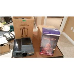 12 to 30 Cup Coffee Maker, Projector, German Decorative Piece