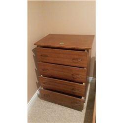 Wooden Dresser, 4 Drawer