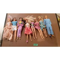 Lot Of Ken And Barbie Dolls