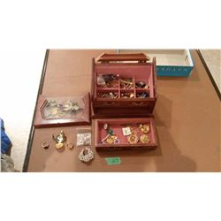 Assorted Jewellery W/ Display Case