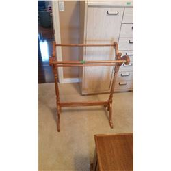 Wooden Quilting Rack