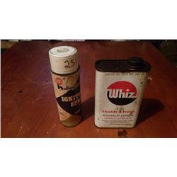 Whiz Ignition Spray W/ Whiz Brake Fluid Tin