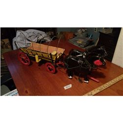 Hand Made horse And Wagon, Missing Canvas