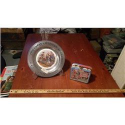 Candyland Metal Lunch Kit And Advertising Plate On Stand