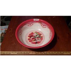 Red Enamel Bowl