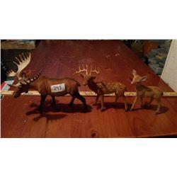 Lot of Plastic Figurines (3)
