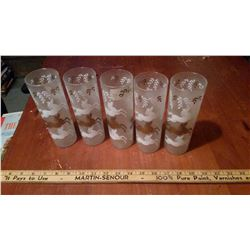 Glass tumblers With Horse Design (5)