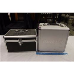 Makita Silver Aluminum Hard Case& A Unknown Hard Case