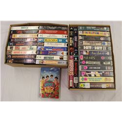Lot of VHS Movies w/A Beatles Book (Shout! The True Story of The Beatles)
