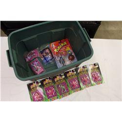 Rubbermaid Tub w/Toys (Pokemon, Power Rangers, Etc)