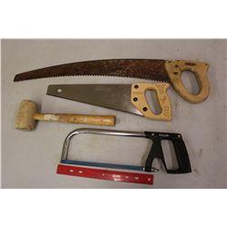 Saws (3)& A Hammer
