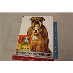 Porcelain Milk-Bone Dog Biscuit Sign