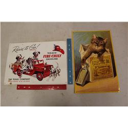 Tin Signs (2)(Texaco & Electric Oil)