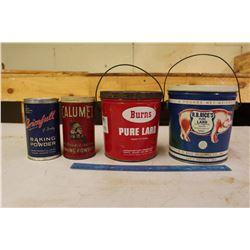 Kitchen Tins (4)(Lard & Baking Powder)