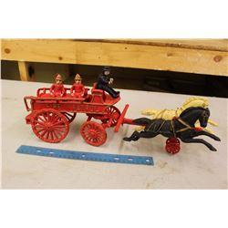 Cast Iron Fire Patrol Wagon