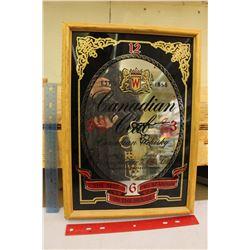 Canadian Club Mirror Advertising Clock