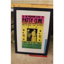 "Patsy Cline Concert Framed Poster (30""x22.5"")"