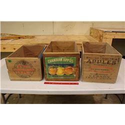 """Wooden Apple Crates (3)(19"""" Long)"""