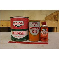 Co-Op Oil & Anti-Freeze Tins