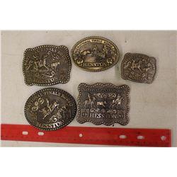 Hesston Rodeo Belt Buckles (5)