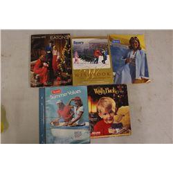 Eaton's&Sears Catalogues (5)(3 Christmas Wishbooks)
