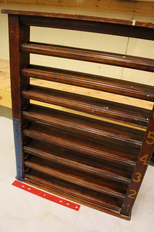 Vintage Wooden Pool Hall Ball Rack