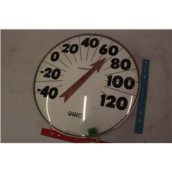Large Round Class Advertising Ohio Thermometer