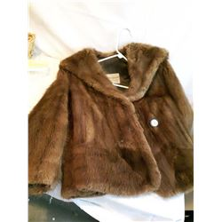 Short Mink Coat (Size Medium)