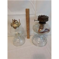 Vintage Glass Kerosene Lamps (2)