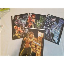 Comics: Danger Girl, Trinity (#1, 2, 3&4)(Unopened)