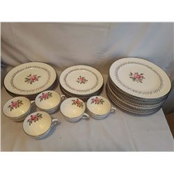 "Partial Set of Dishes ""Rose of Tralee"" Sovereign Potteries (Canada Made)"