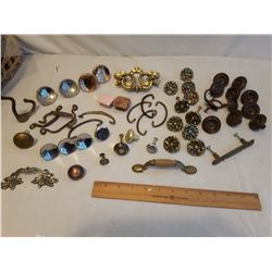 Variety of Old Dresser Hardware