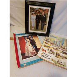 Picture of The Queen, Prince Charles w/Winston Churchill & 2 Royal Scrapbooks