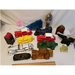 Avon Cars & Various Decanters (Most Empty)