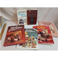 Books on Antiques (6)(Disney, Black, Prints, Jewellery, Depression Glass, Toys)