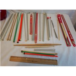 Variety of Knitting Needles & Crochet Hooks