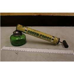 Old Green Cross Insect Sprayer