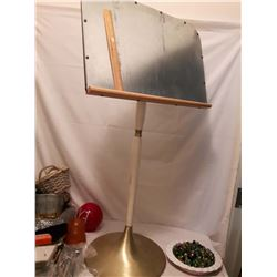 Old Metal Painting Easel or Outdoor Music Stand (Very Heavy)