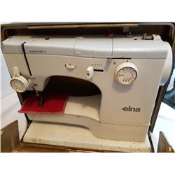 Elna Sewing Machine In Metal Carrying Case