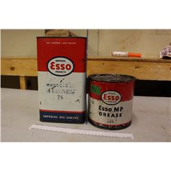 1 Gal Esso Oil Can, And 5lb Esso Grease Can