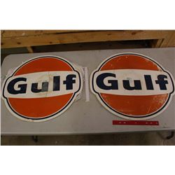 """Pair of Plastic Gulf Signs (26""""x24"""")"""