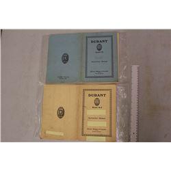 1920s Durant Car Instruction Manuals (Toronto)