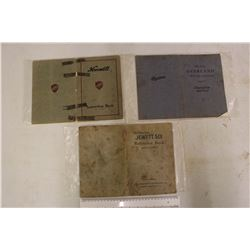1919 Maxwell Car Instruction Manual, 1920s Jewett Six&Overland Owners Manuals