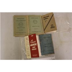 1939&1941 Chevrolet Truck Owners Manuals& GMC Model T-19 Truck Instruction Manual