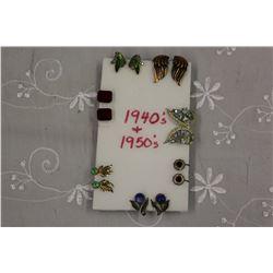 1940s&1950s Earrings (7 Pcs)(Clip Ons& Screw Backs)