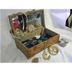 Cedar Box w/Estate Jewellery