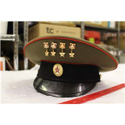 Vintage Russian Army Hat w/Russian Pins
