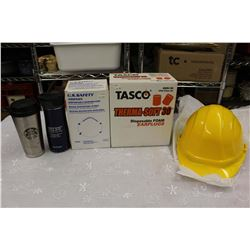 Huge Lot of New Old Stock Work Safety Gear w/Coffee Mugs