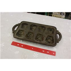 Antique Cast Iron Teddy Bear Moulding Tray