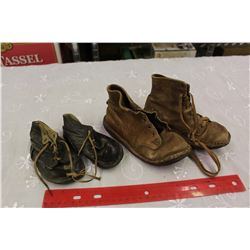 Antique Child Shoes (1920s-30s)(2 Pairs)